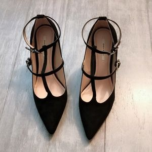 ZARA Women's High Heel Shoes:Black, US 9/EUR 40